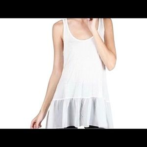 A'reve by ANTHROPOLGIE Drippy Ruffle Tunic Tank